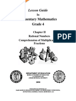 Lesson Guide 4 - Book 10 - Comprehension of Multiplication of Fractions v0.2
