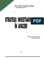 Strategii Investitionale