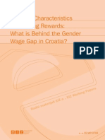 Differing Characteristics or Differing Rewards What is Behind the Gender Wage Gap in Croatia