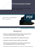 Marine and Coastal Water Pollution Case the Exxon Valdez – March 1989