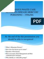 Hazardous Waste Case - Minamata Disease-mercury Poisoning – 1950s-60s