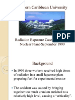 Radiation Exposure Case - Tokaimura Nuclear Plant – September 1999