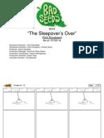 "Harvey Beaks ""The Sleepover's Over"" Original Storyboard"