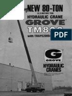 Grove TM800 8x4 Specifications Hydraulic Cranes