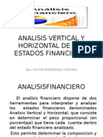 Analisis Vertical y Horizontal de Los Estados Financieros