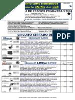 Lista de Precios Primavera 3 2014