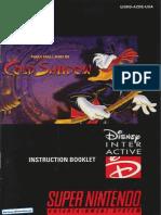 Maui Mallard in Cold Shadow Manual SNES