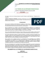 Reglamento Ley Federal Entidades Paraestatales
