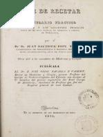 Arte de Recetar 1 1835