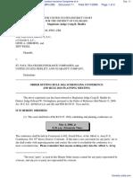 Equinox Group, LLC, The et al v. St. Paul Travelers Insurance Companies et al - Document No. 11