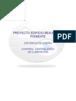 Criterio de Diseño Control Iluminacion Edificio b