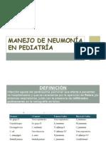 Manejo de Neumonía en Pediatría.