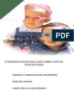 Criterios de Correcion en Niños