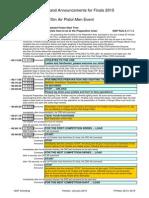 Finals 10m Air Pistol Men - Commands and Announcements - Edition 2015