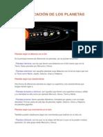 Clasificación de Los Planetas