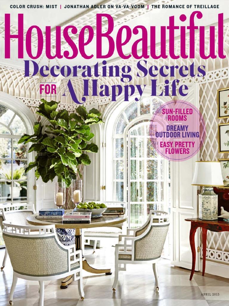 House Beautiful April 2015 Usa Human Eye Wellness