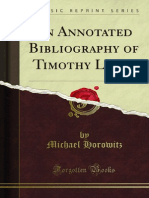 An Annotated Bibliography of Timothy Leary 1000715369