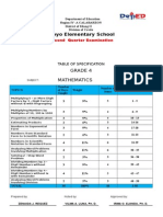 Department of Education Second Periodical Test