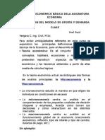 Clase 4 Introducción a La Economia Nacional y Modelo de Oferta y Demanda