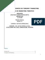Antecedentes y Concepto de Marketing y Turismo