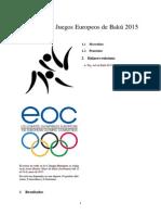 Yudo en Los Juegos Europeos de Bakú 2015