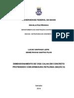 DIMENSIONAMENTO DE VIGA CALHA EM CONCRETOPROTENDIDO COM ARMADURA RETILÍNEA.docx