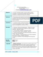 Feb 2010 Courseware Developer Resume Anita Albert