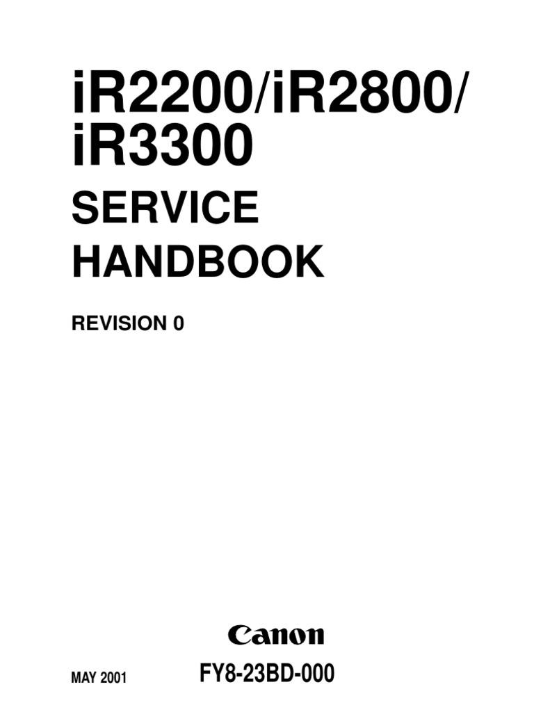 Csmc25m-canon ir2200 2800 3300 service manual | booting | ip address.
