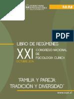 Libro Resúmenes Xxi Congreso Nacional de Psicología Clínica
