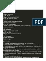 RECETAS VARIAS  TARTALETAS