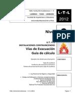 Vías de Evacuación - Guía de Cálculo