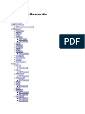 Ffmpeg Formats | File Format | Streaming Media