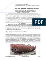 Implementation of Total Productive Maintenance on Boiler