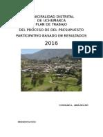 Plan de Trabajo Presupuesto Participativo y Ordenanza