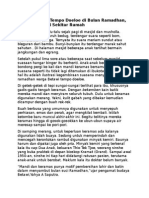 Tradisi Betawi Tempo Doeloe Di Bulan Ramadhan