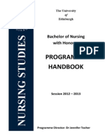Programme Handbook 2012-13 (Old Style)
