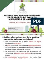 Regulación para organismos operadores de agua en municipios de Jalisco