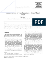 Datta - 1999 - Seismic Response of Buried Pipelines a State-Of-The-Art Review