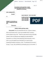HORNBUCKLE v. WOODS et al - Document No. 3