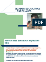 Necesidades Educativas Especiales NEE( Ps. Edu.).