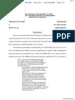 Clunan v. MDOC et al - Document No. 5