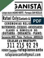 Aviso Organista Cantante (16 de Junio de 2015)
