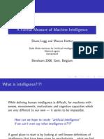 Benelearn UniversalIntelligence Talk