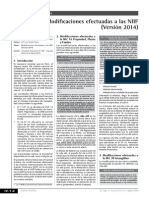 Ultimas Modificaciones a LAS NIFF-2014