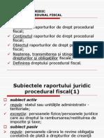 i. Raportul de Drept Procedural Fiscal