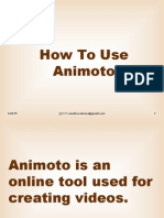 Animoto Tutorial