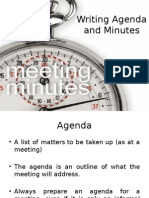 Agenda and Meetings
