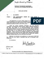 Dept of Finance Order 27-05