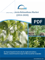 The Stevia Rebaudiana Market to grow at a CAGR of 6% by 2020!- IndustryARC