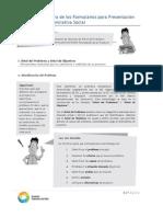 Estructura de Los Formularios Para Presentacion de Proyectos de Iniciativa Social